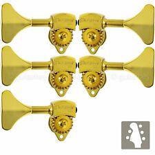 "NEW Hipshot USA HB6 3/8"" Ultralite® Bass Tuning L2+R3 Set Y Key 2x3 - GOLD"