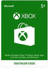 Xbox Live 5 Euro Card Microsoft - MS 5 € Guthaben Karte Xbox 360 Code Key [EU]
