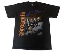 "Vintage 90s Aerosmith XL ""Get a Grip"" Graphic Band Tour Shirt Giant Black Rare"
