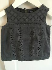 Gorgeous Baby Gap Grey Eyelet Top Age 2 BNWOT Broderie Anglaise