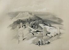 David Roberts FIRST EDITION 1840', Ancient Temple, Egypt, Large!  Lithograph