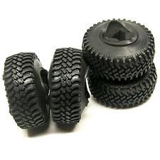 4Pcs 100mm Rubber Tires for 1.9inch Wheel Rim 1/10 RC Crawler Trx-4 SCX10 D90