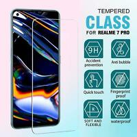 For Realme 7 PRO Tempered Glass Screen Protector Clear TOUGH Guard (9H Hardness)