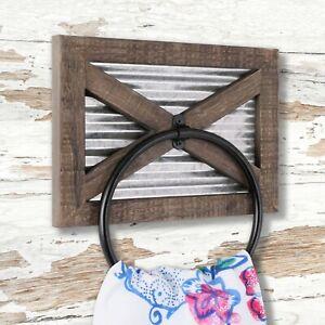 TESLYAR Toallero de pared con soporte de pared para toalla madera de fresno maciza soporte para toallas de ba/ño toalleros anillos de cocina con herrajes montados en la pared bufanda o chal negro