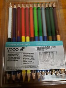 Yoobi Double-Ended Colored Pencils Multicolor 12pk School Home Office NIB.