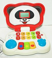 VTECH ANIMAL FRIENDS TODDLER KIDS TOY LAPTOP TALKS SOUNDS LIGHTS UP USED & CLEAN