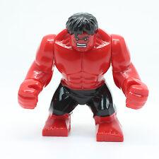 Super Hero Marvel DC Comics Avengers BIG Size Red Hulk Fit With Lego Mini Figure