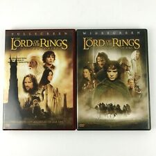 The Lord of the Rings Two Towers Fellowship of the Ring Gollum Frodo Sam 2 Dvds