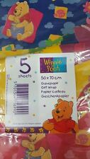 5 Sheet of Winnie The Pooh Gift Wrap Paper
