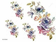 VinTaGe IMaGe XL WaTerCoLoR SWaGs ShaBby WaTerSLiDe DeCALs