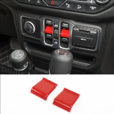 Red ABS Car Window Lift Switch Button Sequin Trim Fit For 2020 Jeep Gladiator JT