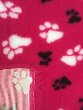 VETBED Dogs dog Bedding Fleece Bed  HOT PINK DUO Rubber backed 0.75m x 1.0m