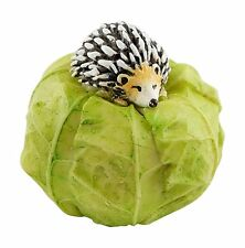 Miniature Mini Hedgehog on Cabbage (4448) Fairy Garden Dollhouse Terrarium