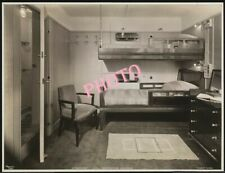 PHOTOGRAPHIE   PAQUEBOT  NORMANDIE  CHAMBRE MATELOT  STEWART  17x13  cm PHOTO
