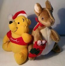 "Winnie the Pooh Plush ""Pooh Bear"" and Gund ""Kanga"" Christmas Theme"
