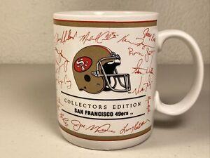 Rare Vintage 1990 NFL 49ers Collectors Edition Mug Cup Facsimile Signatures Used