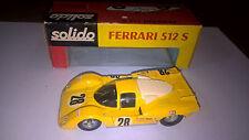 Solido serie 100 art.182 Ferrari 512 S Gialla con Box.