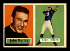 1957 Topps #138 Johnny Unitas DP RC EXMT X1710570