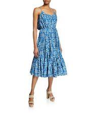 Rhode Lea Midi Dress Blue/Multi Sz XS S M A30713F