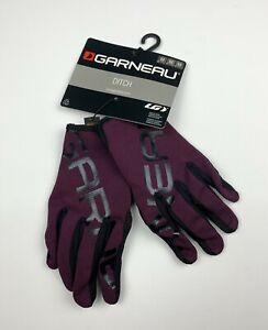 Louis Garneau Ditch Full Finger Cycling Gloves Purple Size Mens Medium New