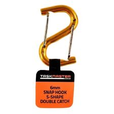 5x Taskmaster ALUMINIUM S-SHAPE CARABINER 6mm Double Snap Hooks Assorted Colours