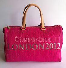 CAROLINA HERRERA Calfskin Leather ANDY BAG Embossed CH Monogram LONDON Lt Ed NWT