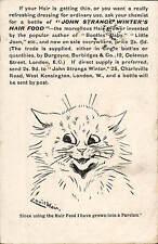Louis Wain Cat. John Strange Winter's Hair Food Advert.