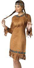 Sexy Native American Indian Princess Costume Dress Adult - S/M 2-8, M/L 10-14