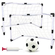 2pcs Portable Soccer Goal Net Frame Backyard Football Training Set+Football