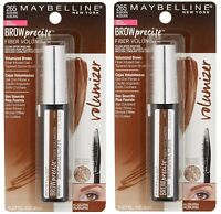 2 Pack Maybelline Brow Precise Fiber Volumizer Mascara Sealed - #265 Auburn. NEW