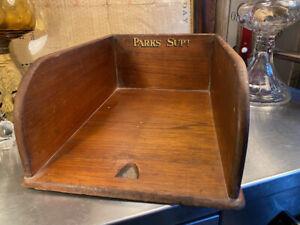 Antique Vintage Australian Cedar Government Department Desk Tidy Organiser