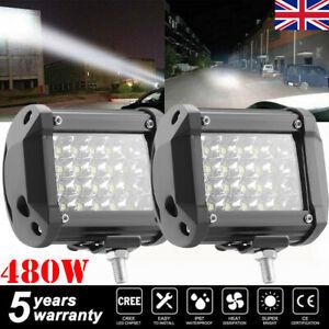 2x 480W Car LED Work Spot Lights Flood light Lamp 4x4 Van ATV Offroad SUV Truck