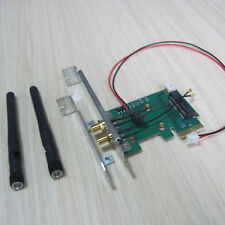 full+ half bracket mini pci-e to 1x 16x adapter for wireless wifi bluetooth card