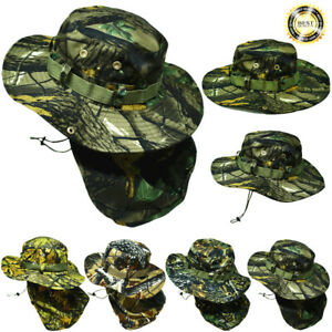 Bucket Boonie Hat Neck Flap Sun Wide Brim Military Fishing Hunting Outdoor Cap