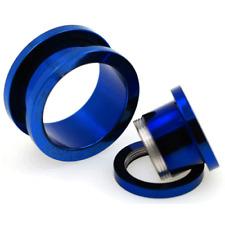 TITANIUM Screw Fit EAR GAUGES Plugs Flesh TUNNEL Piercing Jewelry USA SELLER
