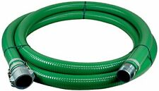 """2"""" x 20' Green PVC Water Suction Hose with Aluminum Part C x Male NPT Banded"""