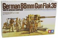 TAMIYA 1/35 German 88mm Gun Flak36 North Africa Campaign Model Kit NEW Japan