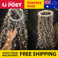 800 LED Ultra Bright Chandelier Xmas Christmas Light Party Decor Fairy String