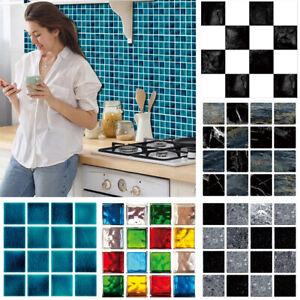 30 Stk Fliesenaufkleber für Küche & Bad 3D Mosaic Selbstklebend Wandaufkleber