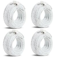 Funlux/Zmodo™ 3rd Gen Pack of 4 82ft sPoE NVR MicroUSB Camera Cable W-USB025-M