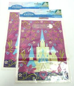 SET OF 2 - Disney Frozen 8 piece Birthday Party Favor Bags by Hallmark 9 x 6.5