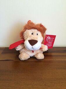 Lion Love Horns Soft Plush Toy Valentines Bear/Gift Sml