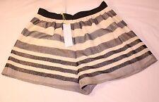 *NEW* $108 BCBG Skort Skirt Size 6 Stripe Gold Black Party Cute NWT Dress