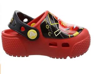 Crocs Boys' Fun Lab Light Up Cars 3 Clog, Color Flame, Toddler Boy size 4