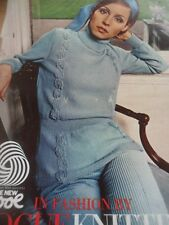 Vintage sept 1968 1960's Vogue Knitting Pattern livret 10 Exclusive Designs