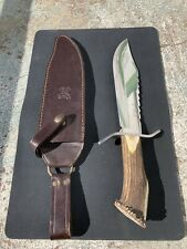 Hen & Rooster HR 5000 Stag Handle Bowie Knife 15""