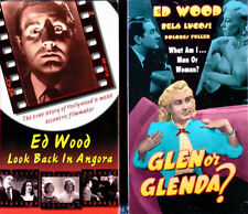 ED WOOD - LOOK BACK IN ANGORA + GLEN OR GLENDA - RHINO - (2) VHS TAPES