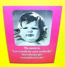 VTG 1974 Mini Cardboard counter poster Store Display April House Baby Girl Pink