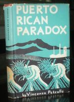 SIGNED, 1947, First Edition, PUERTO RICAN PARADOX, by VINCENZO PETRULLO, HCDJ