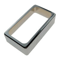 Brass Humbucker Pickup Cover Open for LP Electric Guitar Accs Durable Chrome